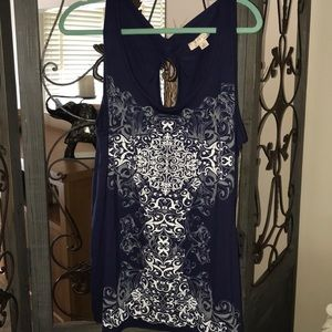 Plus size 2x navy blue/ purple tank. NWT